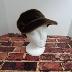 GIOVANNIO Brown Faux Fur 60's Hippy hat Womans Med